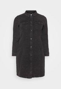 Vero Moda Curve - VMAVIIS STITCH DRESS  - Denim dress - black - 4