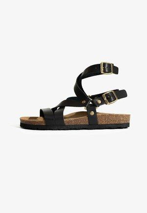ARMIDALE - Ankle cuff sandals - black