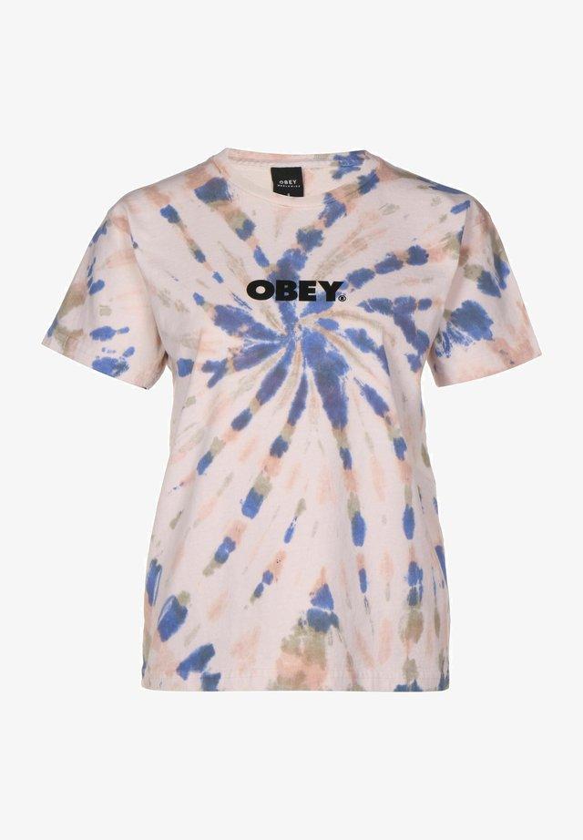 T-shirt con stampa - dusky tie die