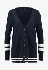 Banana Republic - CARDIGAN WITH COLLEGIATE STRIPES - Cardigan - navy - 4
