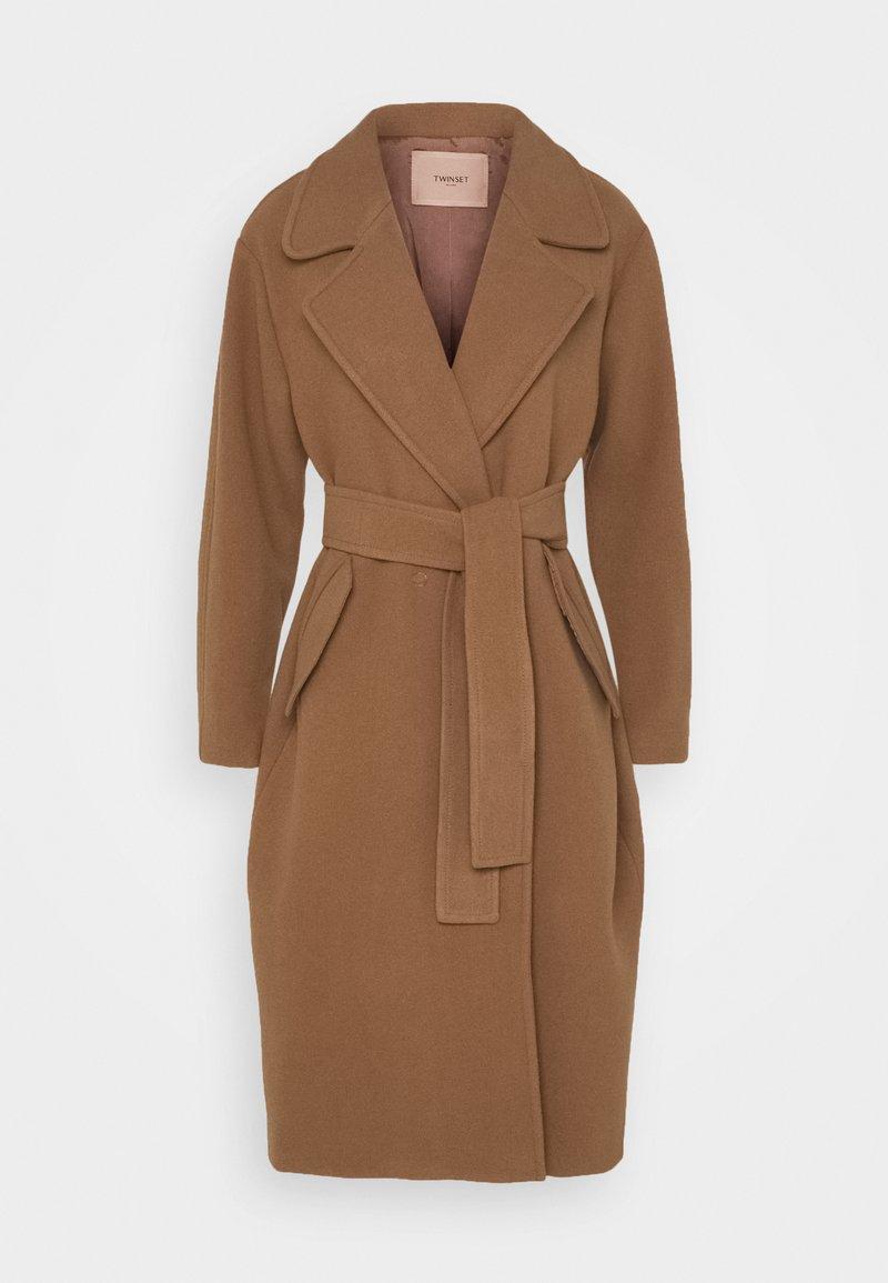 TWINSET - Klasický kabát - cammello