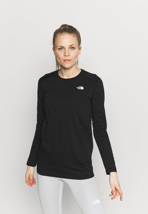 WOMENS SIMPLE DOME TEE - Topper langermet - black