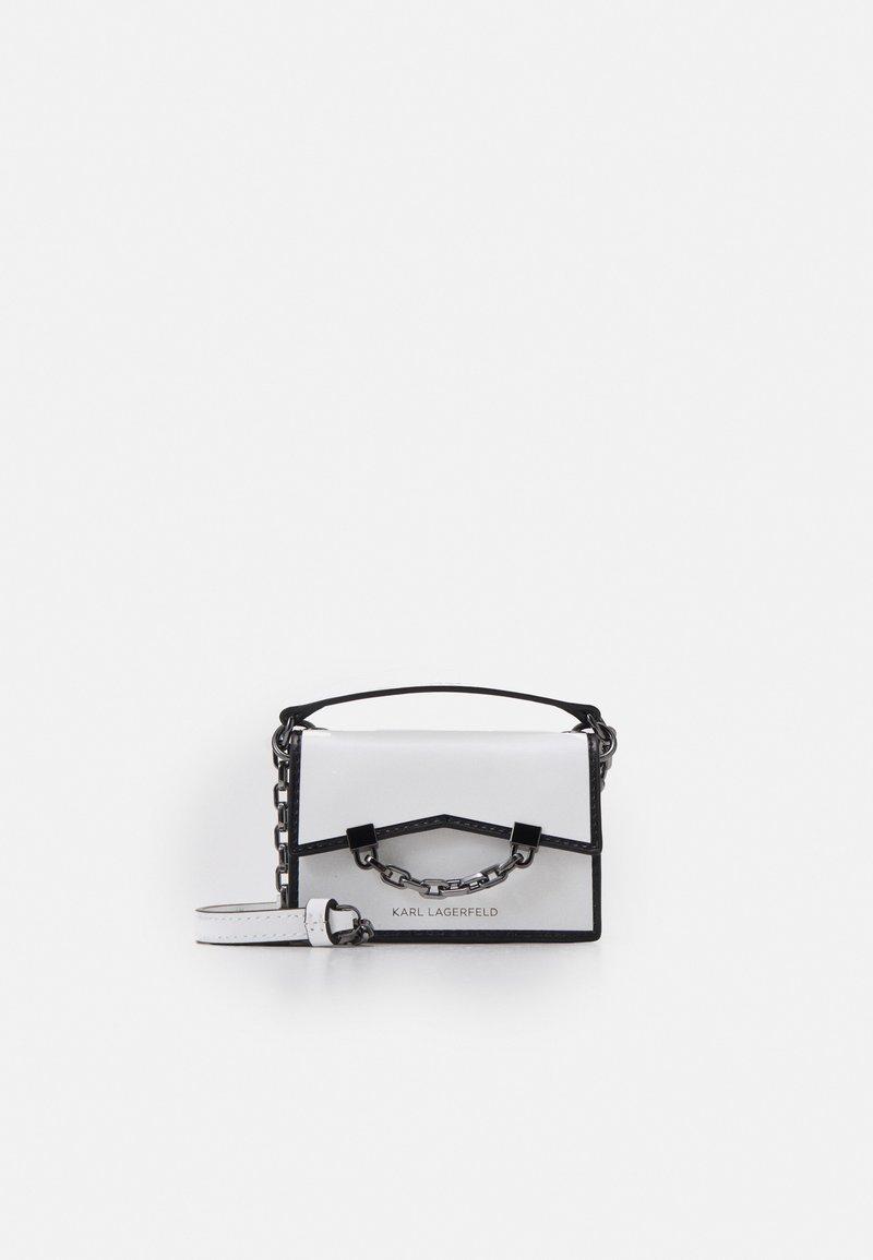 KARL LAGERFELD - SEVEN NANO - Across body bag - white/black