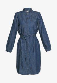 TOM TAILOR - DRESS WITH TIE - Denimové šaty - dark stone wash denim - 4