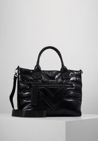 River Island - QUILTED SHOPPER - Tote bag - black - 0