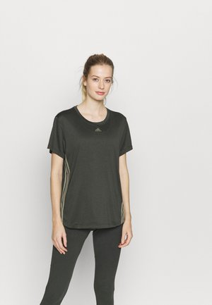 3 STRIPE TEE - Sports shirt - khaki
