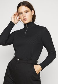 Vero Moda Curve - VMRACHEL HIGHNECK - Long sleeved top - black - 0