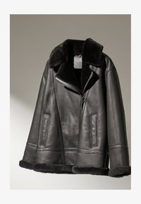 Massimo Dutti - Leather jacket - black - 1