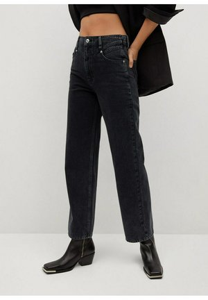 JULIETTE - Jeans straight leg - black denim