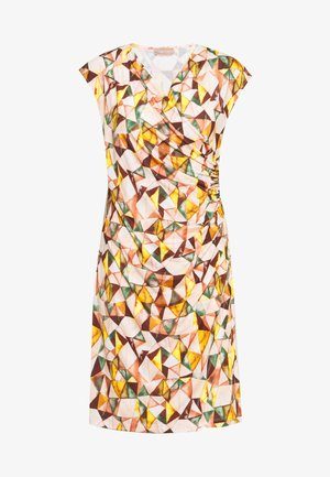 KURZ - Jersey dress - apricot/green