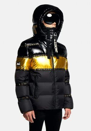 Down jacket - black/wet black/gold