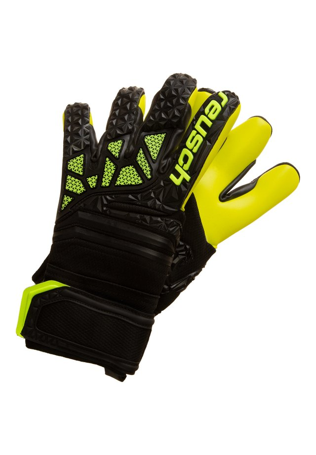FIT CONTROL FREEGEL S1  - Goalkeeping gloves - black / lime green