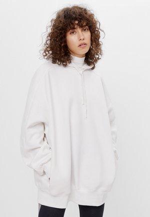 Mikina skapucí - white