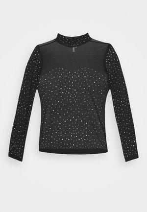 DECORATED - T-shirt à manches longues - black