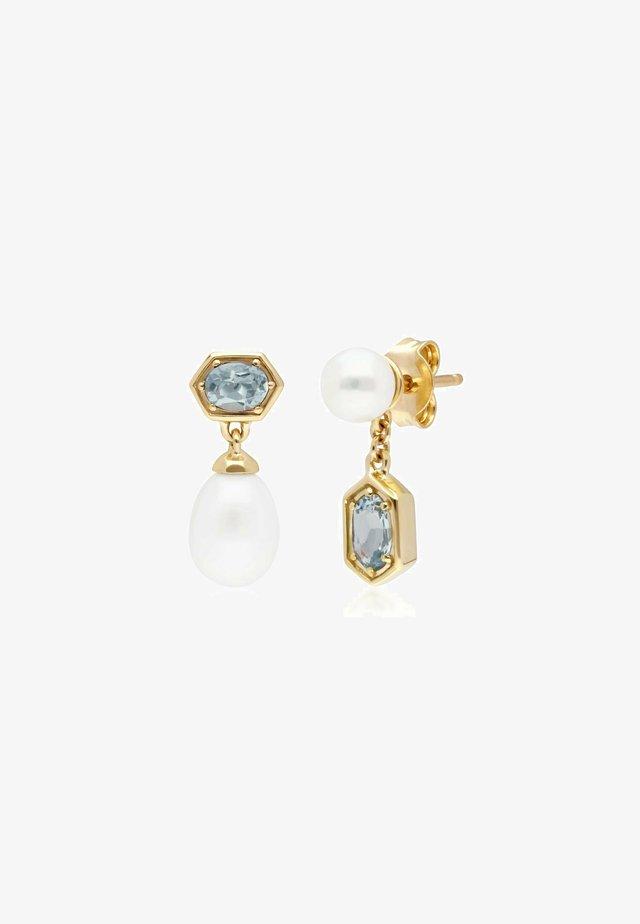 PEARL & AQUAMARINE - Earrings - blue