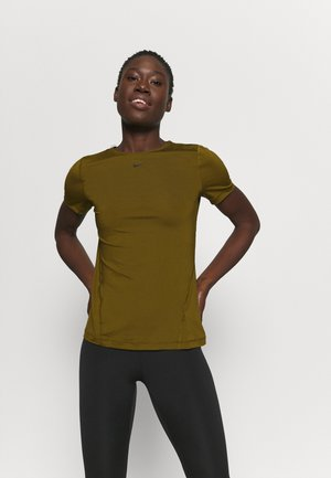 ALL OVER - T-shirt basic - olive flak/black