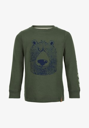 Long sleeved top - olive thyme