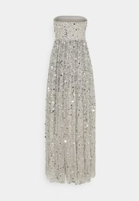 Maya Deluxe - ALL OVER EMBELLISHED BANDEAU MAXI - Occasion wear - soft grey - 7
