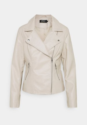 ONLMELISA BIKER - Faux leather jacket - moonbeam