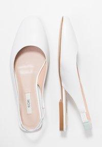 KIOMI - Slingback ballet pumps - white - 3