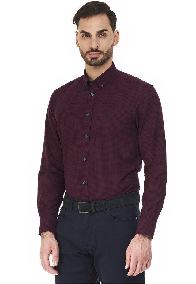 Zakelijk overhemd - rosso scuro