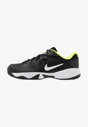 COURT LITE 2 CLAY - Clay court tennis shoes - black/white/volt