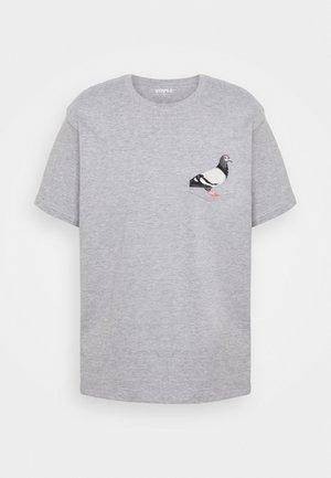 POCKET TEE UNISEX - Print T-shirt - heather grey