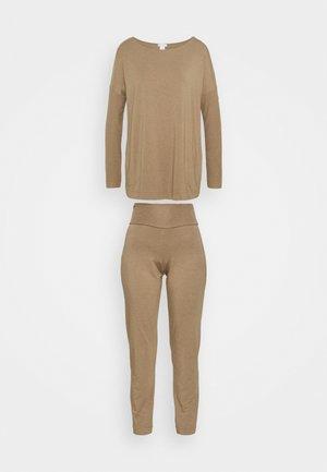 Pyžamová sada - khaki melange