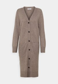 pure cashmere - LONG CARDIGAN - Gilet - taupe - 0