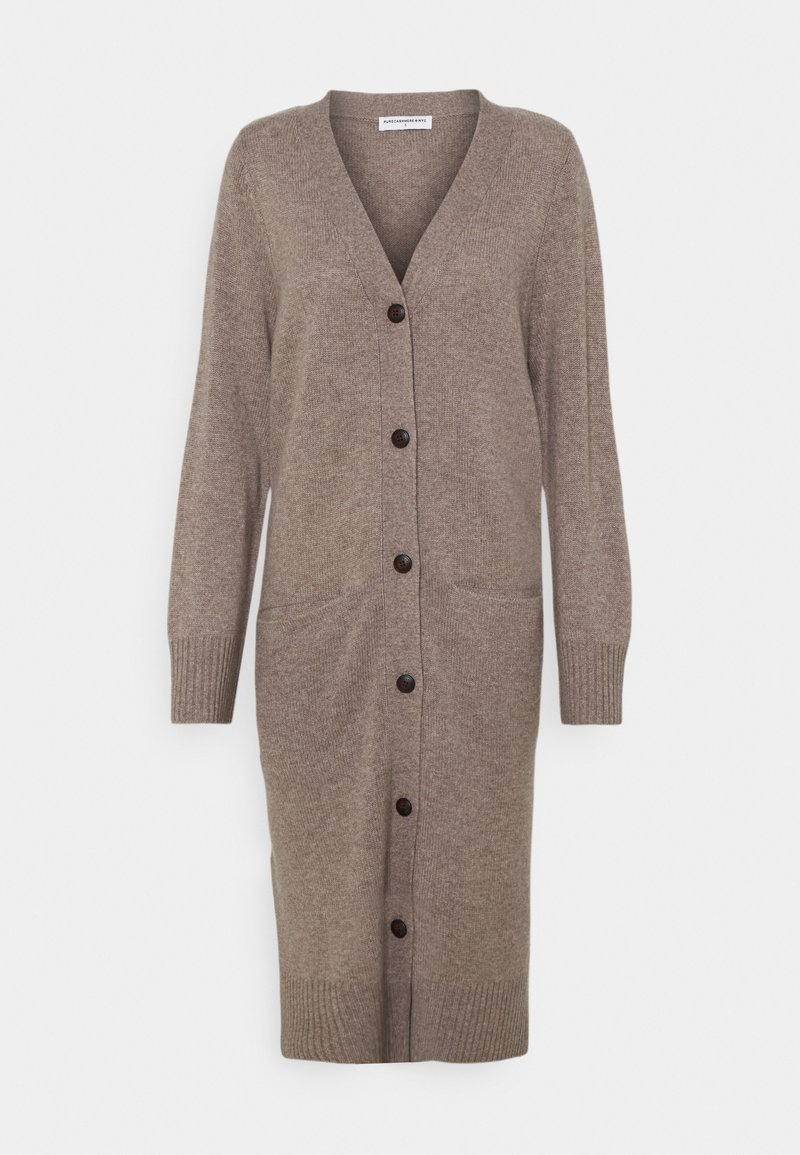 pure cashmere - LONG CARDIGAN - Gilet - taupe