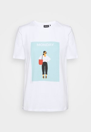 PCMONDA TEE - T-shirt med print - bright white