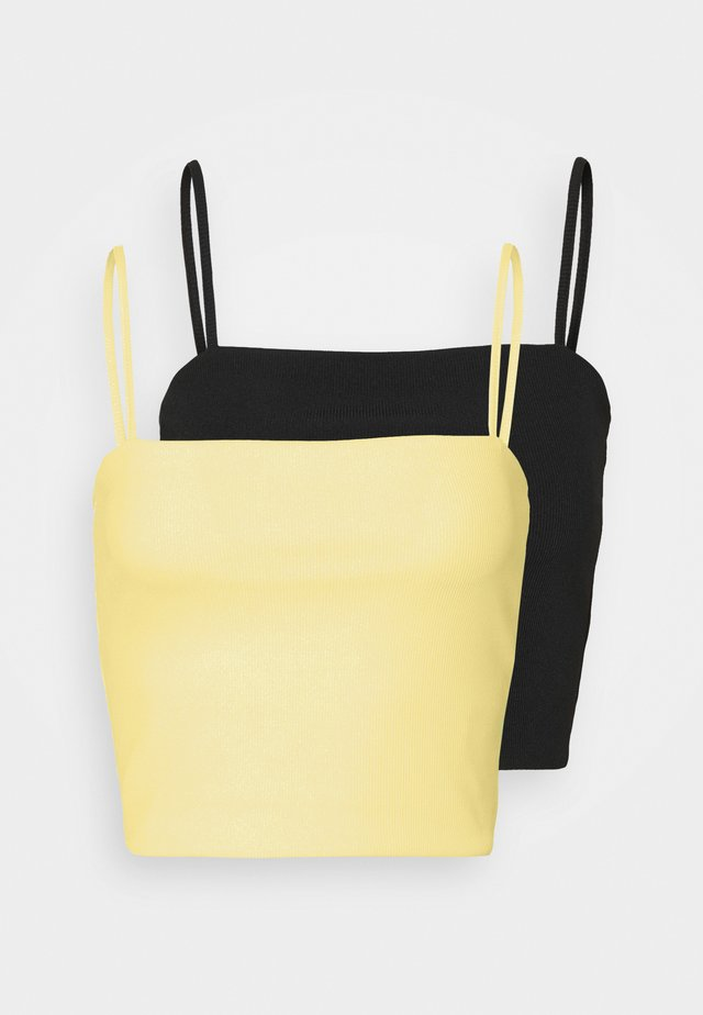 EILY SINGLET 2 PACK - Toppi - yellow/black