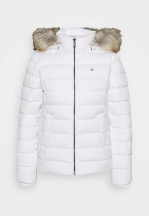 BASIC HOODED JACKET - Down jacket - white