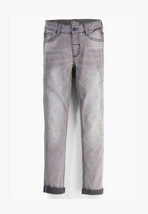 MIT WASCHUNG - Slim fit jeans - grey