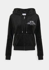 Juicy Couture - ANNIVERSARY CREST  HOODIE - Sweat à capuche zippé - black - 9
