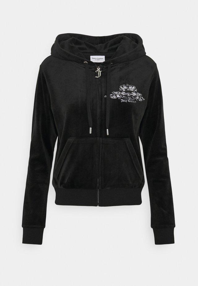 ANNIVERSARY CREST  HOODIE - Sweater met rits - black