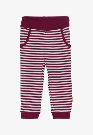 GIRLS STRIPE JOGGER BABY - Kalhoty - red