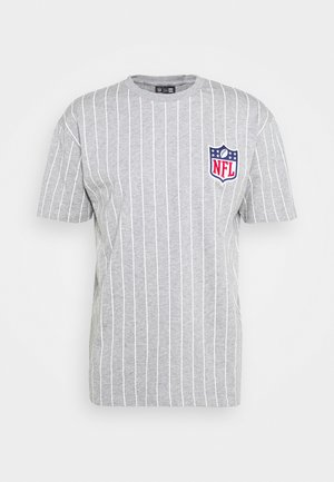 NFL PINSTRIPE LEFT LOGO TEE - Triko spotiskem - grey