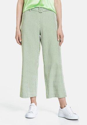 Trousers - ecru/weiss/grün streifen