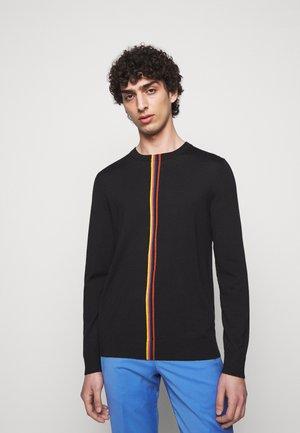 GENTS CREW NECK - Stickad tröja - black