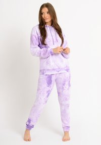 Chelsea Peers - NYC LOUNGE TIE DYE LILAC JOGGER - Tracksuit bottoms - lilac - 0