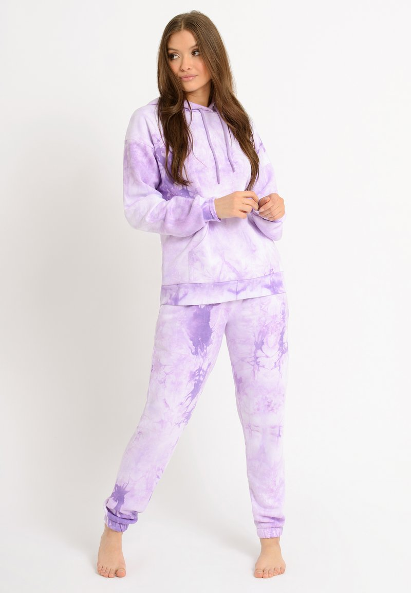 Chelsea Peers - NYC LOUNGE TIE DYE LILAC JOGGER - Tracksuit bottoms - lilac