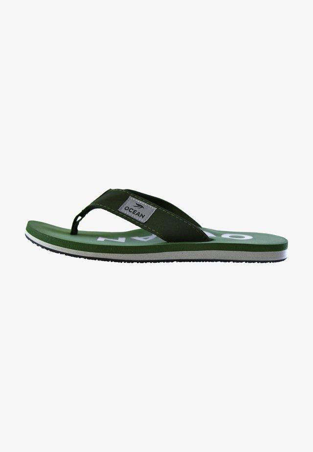 Pool shoes - khaki/silber