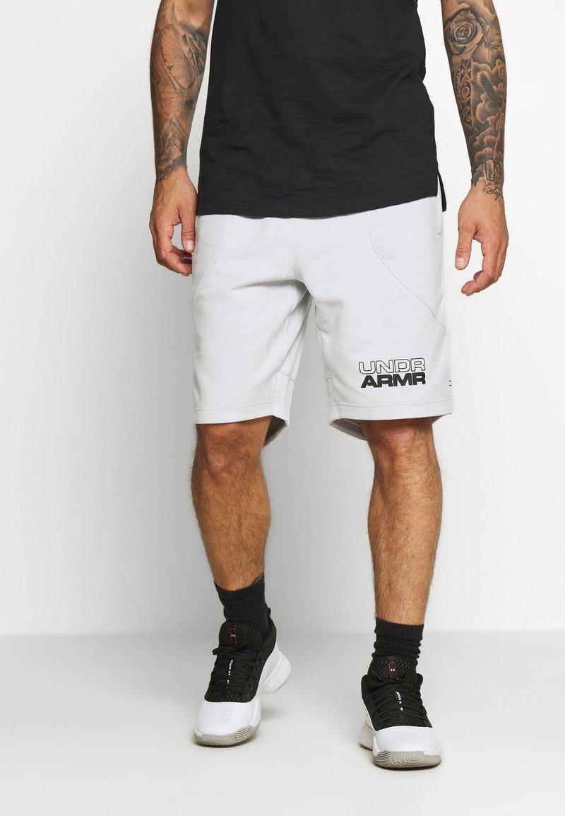 Under Armour - BASELINE SHORT - Sports shorts - halo gray light heather/black