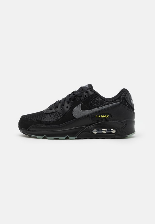 AIR MAX 90 UNISEX - Trainers - black/smoke grey/limelight