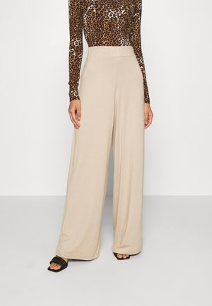 FLOW PANTS - Trousers - beige