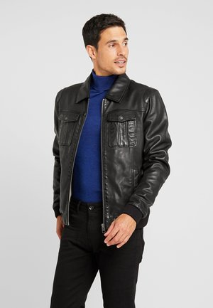 BOOSTER - Leather jacket - black