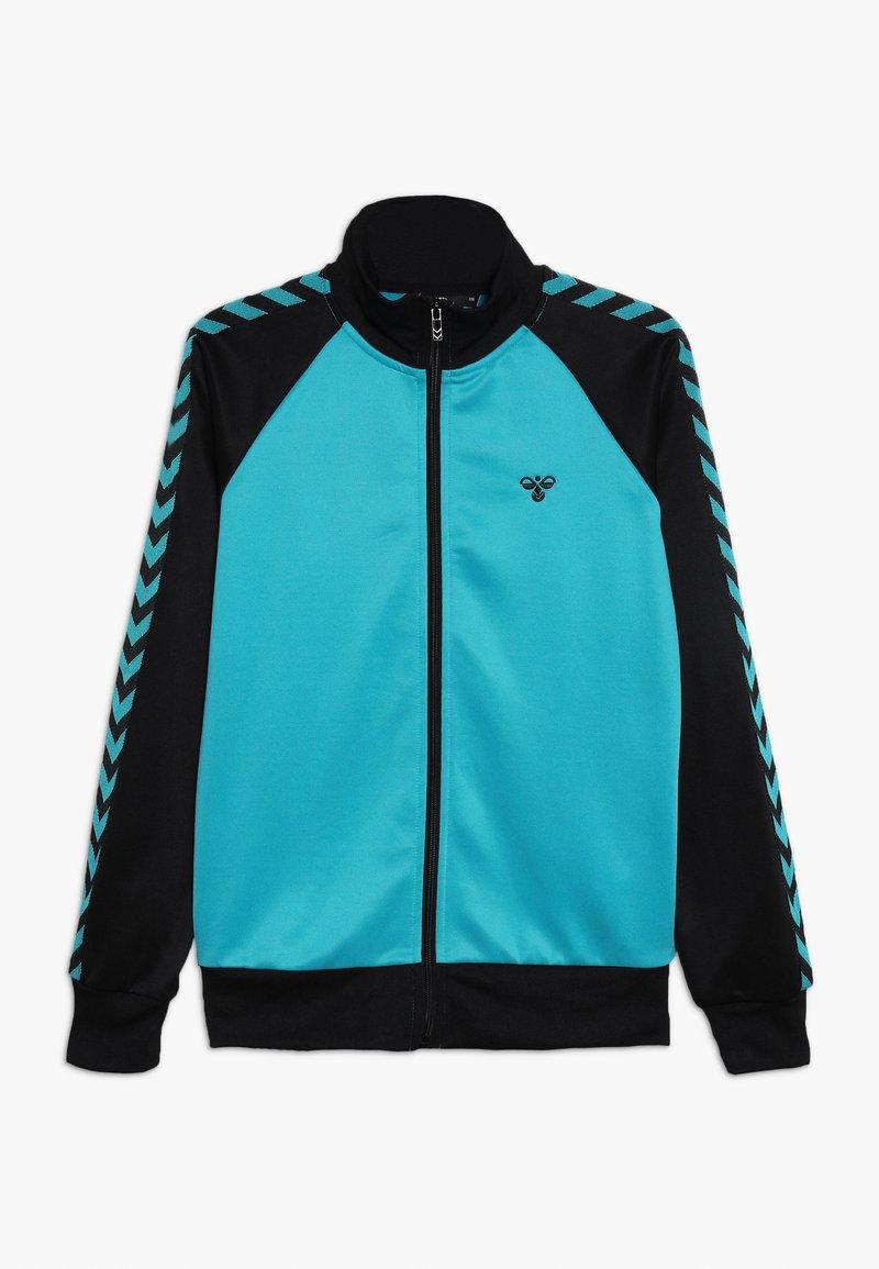 Hummel - HMLKICK - Training jacket - black/lake blue