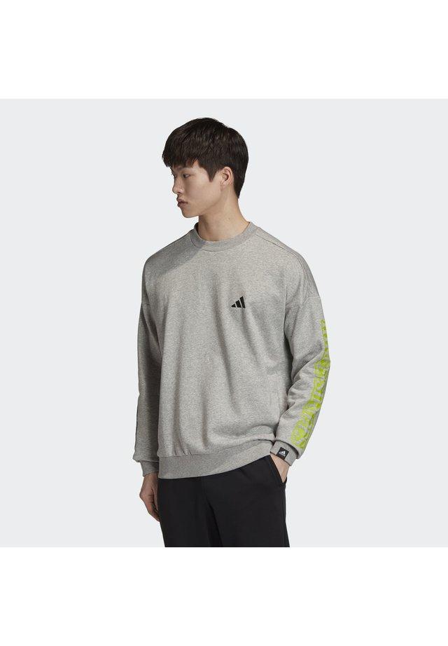 THE 3-STRIPES GRAPHIC SWEATSHIRT - Sweatshirt - grey
