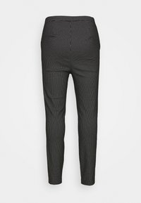 New Look Curves - GRID BENGALINE TROUSER - Kalhoty - black - 1